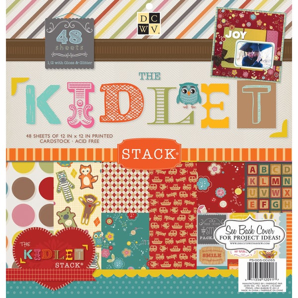 "Kidlet Paper Stack 12""X12"" 48/Sheets-24 Designs/2 Each"