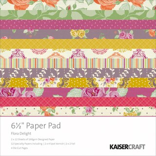 "Flora Delight Paper Pad 6.5""X6.5""-"