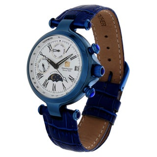 Steinhausen Women's 'Three Eyes' Blue Steel Automatic Watch