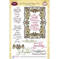 "JustRite Stampers 6""X8"" Clear Stamp Set-Good Friends Labels Twenty 10pc"