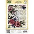 JustRite Stampers Cling Background Stamp 4-1/2