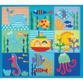 "Amanda Blu Embroidered Postbound Album 12""X12""-Sea Life"