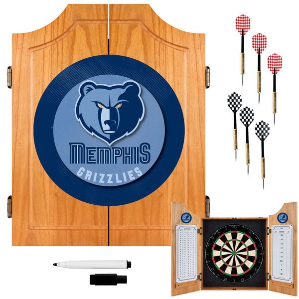 Officially Licensed NBA Wood Dart Cabinet Set