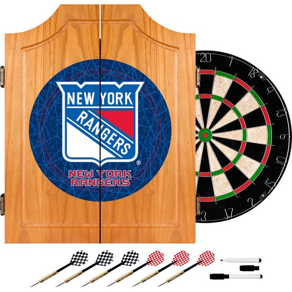 Officially Licensed NHL Dart Cabinet Set