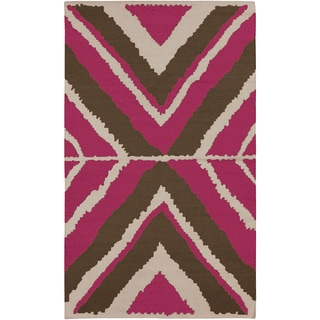 Beth Lacefield Hand-woven Wool Rug (5' x 8')