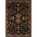 Hand-tufted Joris Black Oriental Wool Rug (5' x 8')