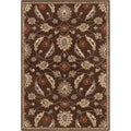 Hand-tufted Ejnar Brown Oriental Wool Rug (7'6 x 9'6)