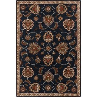 Hand-tufted Ebba Blue Oriental Wool Rug (9' x 12')