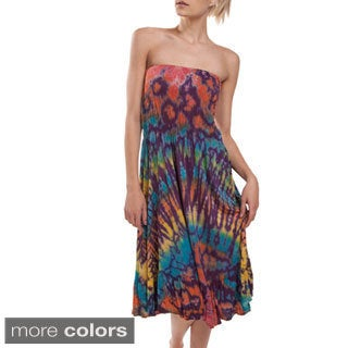 Tie Dye Mesh Tube Dress (Nepal)