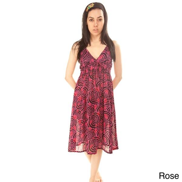 Circle Print Summer Dress (Nepal)