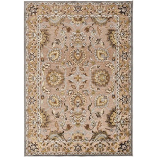 Woven Brede Traditional Beige Oriental Rug (7'6 x 10'6)