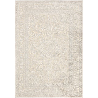 Bent Traditional Ivory Oriental Rug (7'6 x 10'6)