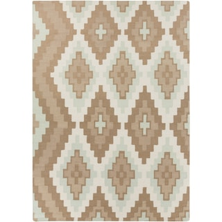Beth Lacefield Hand-woven Adlai Reversible Dove Wool Rug (8' x 11')