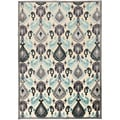 Anker Contemporary Blue Abstract Ikat Rug (2'2 x 3')