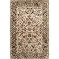 Hand-tufted Traditional Ivory Oriental Rug (3'6 x 5'6)