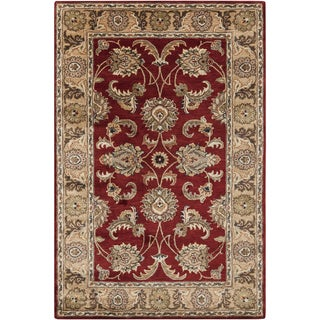 Hand-tufted Traditional Red Oriental Rug (5' x 8')