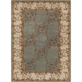 Hand-tufted Clady Grey Border Wool Rug (9' x 12')