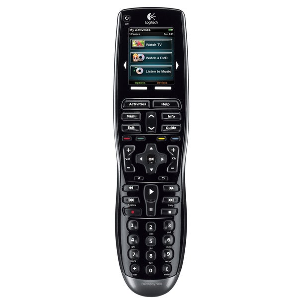 Logitch Harmony 900 Rechargeable Remote with Color Touchscreen (Refurbished)