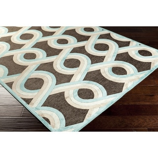 Annemette Blue Geometric Lattice Rug (7'6 x 10'6)