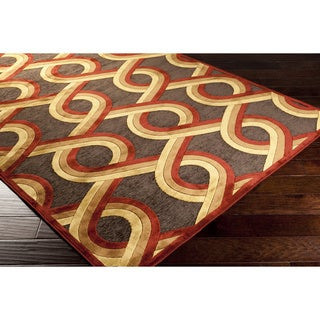 Argus Contemporary Red Geometric Lattice Rug (7'6 x 10'6)