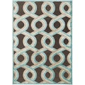 Annemette Blue Geometric Lattice Rug (5'2 x 7'6)