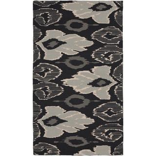 Beth Lacefield Hand-woven Adnan Flatweave Grey Wool Rug (5' x 8')