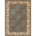 Hand-tufted Clady Grey Border Wool Rug (5' x 8')