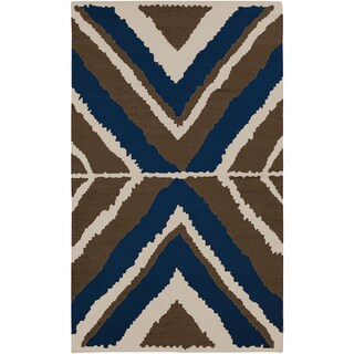 Beth Lacefield Hand-woven Adonis Flatweave Wool Rug (8' x 11')