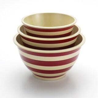 Paula Deen Signature Pantryware Red Stripe 3-Piece Mixing Bowl Set