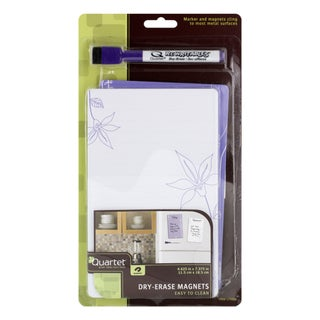 Quartet ReWritables Dry-Erase Magnets and Marker Set (Pack of 2)