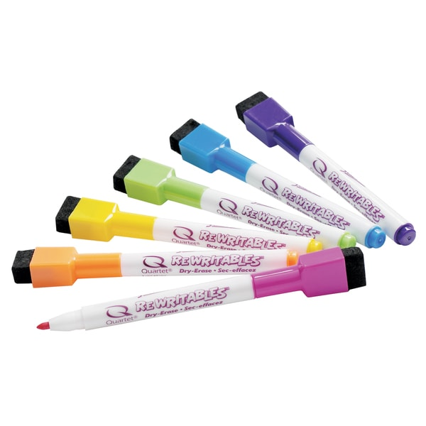 Quartet ReWritables Screamers! Dry-Erase Mini Markers (Pack of 6)