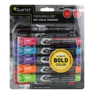 Quartet EnduraGlide Chisel-tip Assorted Color Dry-Erase Markers (Pack of 12)