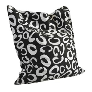 Oh! Home Phoebe C Pattern Black and White Bean Bag