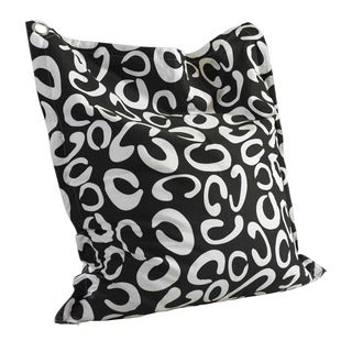 Powell 'C' Pattern Black and White Anywhere Lounger