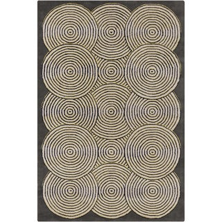 Handmade Allie Geometric Grey Wool Rug (5' x 7'6)