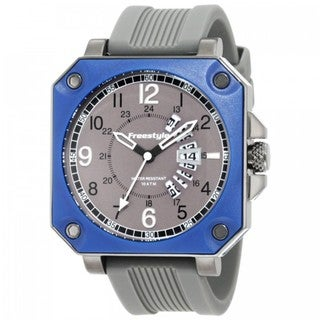 Freestyle Men's 'Trooper' Grey Silicone Strap Watch