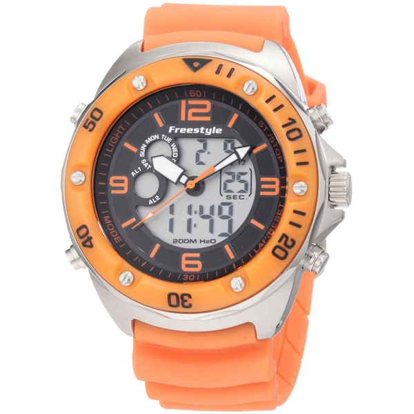 Freestyle Men's 'Precision' Orange Steel Analog/ Digital Watch