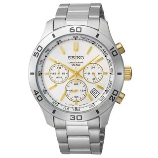 Seiko Men's Stainless Steel 3-hand Chronograph Watch