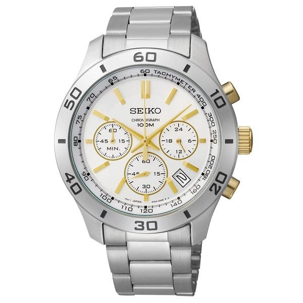 Seiko Men's Stainless Steel 3-hand Chronograph Watch