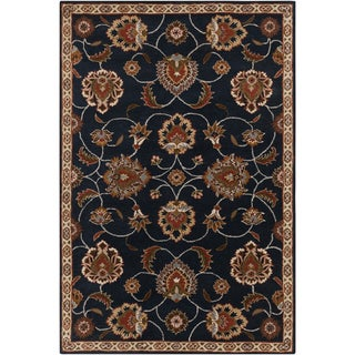 Hand-tufted Ebba Blue Wool Rug (2' x 3')