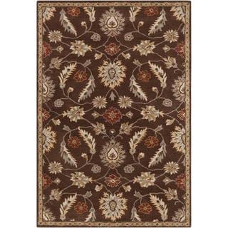Hand-tufted Ejnar Brown Wool Rug (6' x 9')