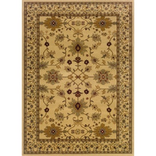 Indoor Ivory/ Green Area Rug (9'10 x 12'9)