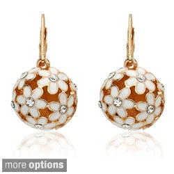 Riccova Color-plated Crystal Flower Ball Earrings