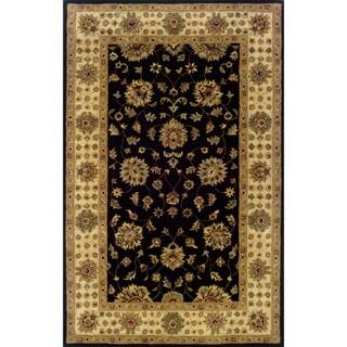 Indoor Black/ Ivory Wool Area Rug (9'6 x 13'6)