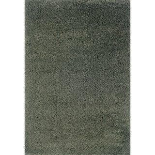 Indoor Blue/ Blue Shag Area Rug (9'10 x 12'7)
