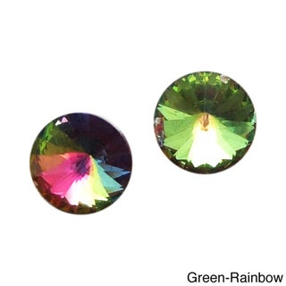 Timeless Prism Round Crystal .925 Sterling Silver Earrings (Thailand)