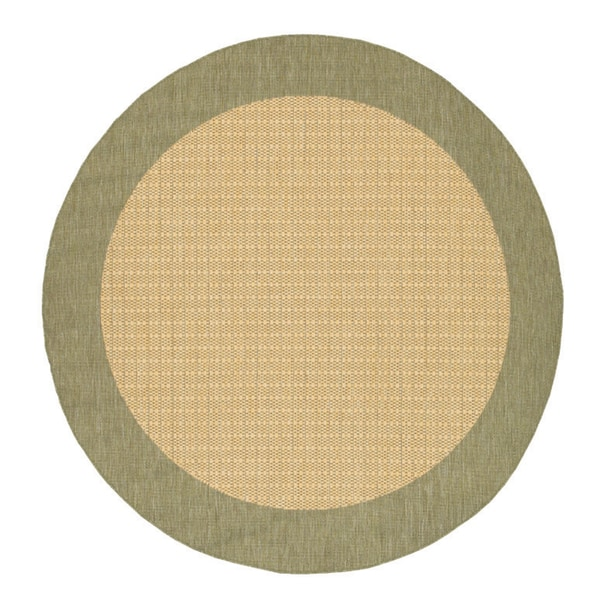 Field/ Natural Checkered Recife Rug (76 Round)