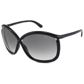 Tom Ford Women's TF0201 Charlie Black Rectangular Sunglasses