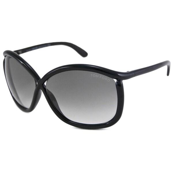 Tom Ford Women's TF0201 Charlie Black Rectangular Sunglasses