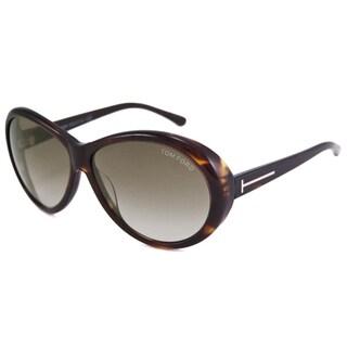 Tom Ford Women's TF0202 Geraldine Oval Sunglasses